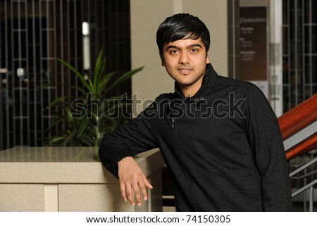 Eastern College Student smiling - stock photo