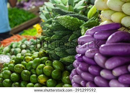 eastern vegetable Market - stock photo