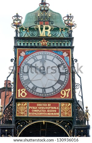 Eastgate Clock, Chester, England21 - stock photo