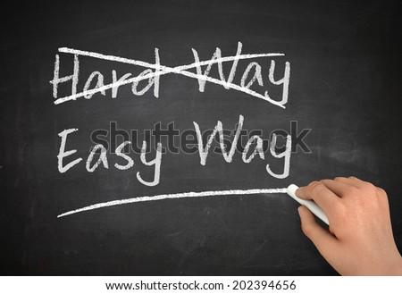 easy hard way - stock photo