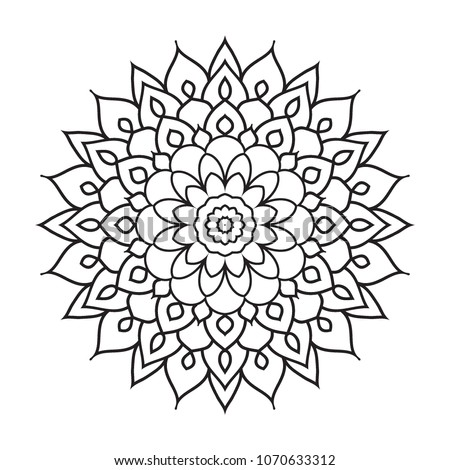 Easy Simple Basic Mandala Background Coloring Book Pages For Beginners
