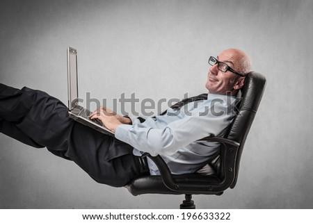easy worker - stock photo