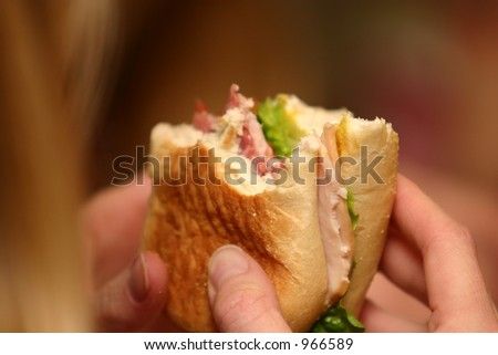 Eating a Sandwich