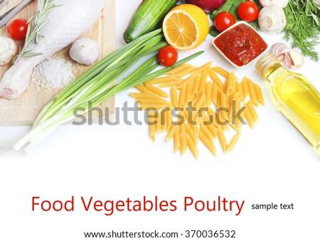 Eating turkey roast vegetable - stock photo