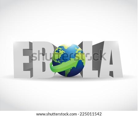 ebola globe sign illustration design over a white background - stock photo