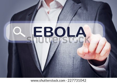 Ebola virus search in internet