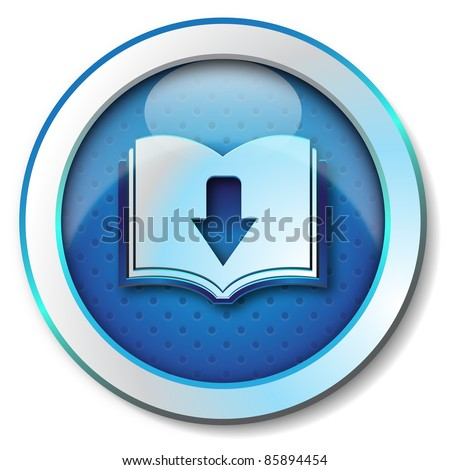 Ebook download icon - stock photo
