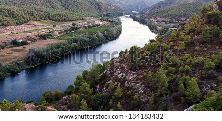 Ebro river - stock photo