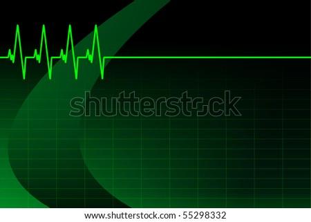 ECG/EKG background/business card (vector file in my portfolio) - stock photo
