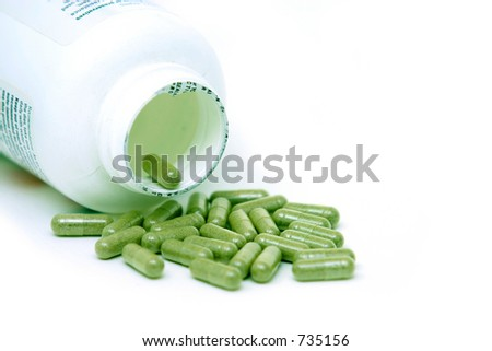 Echinacea Pills - stock photo