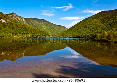 Echo lake -Franconia-New Hampshire - stock photo