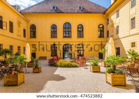 Eckartsau, Austria - August 24, 2016: Baroque complex hunting castle and the natural park