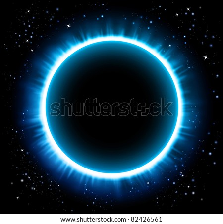 Eclipse blue background - Raster version - stock photo