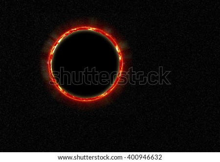 eclipse. The photograph is prepared using Gaussian noise distribution in image processing software. It consists of 4 layers. - stock photo