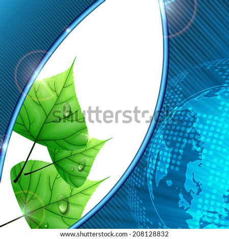 Eco Background With Leaves - stock photo