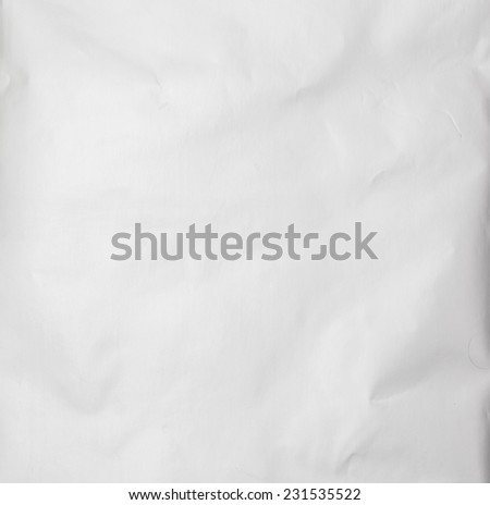 Eco craft crumpled paper background and sheet of white paper on it for identity, cards and scrapbooking gray color - stock photo