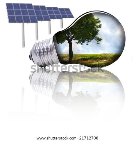 Eco energy - stock photo