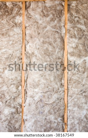 Eco-friendly insulation in a home remodel project. - stock photo