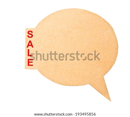Eco friendly label. SALE, isolated on white background, clipping path. - stock photo