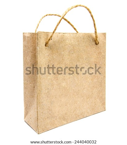 Eco-friendly packaging isolated on white background - stock photo