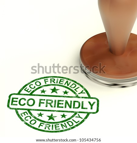 Eco Friendly Stamp Shows Symbol For  Recycling And Environment