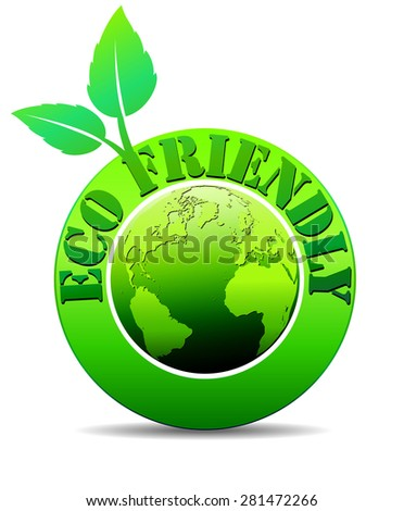 Eco Green World - Raster Version - stock photo