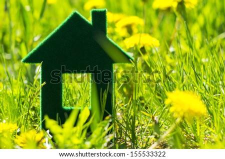 eco house icon concept  - stock photo