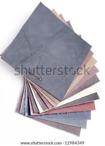 Eco leather sampler - stock photo