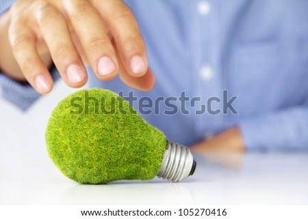 eco light bulb concept - stock photo