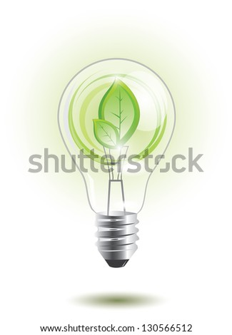 Eco lightbulb with plant inside