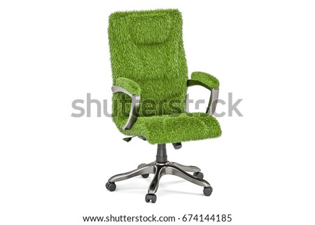 eco office chair. Eco Office Chair Concept, 3D Rendering Isolated On White Background E
