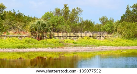 Eco Pond Everglades National Park - stock photo