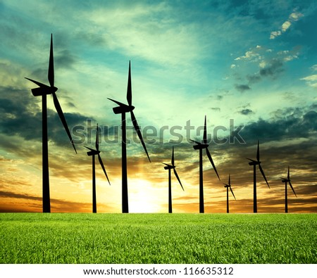 eco-power - stock photo