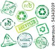 eco stamp set - stock vector