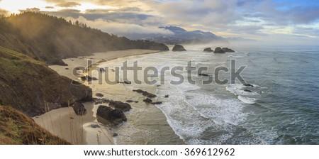 Ecola State Park, Oregon, USA - stock photo