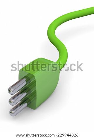 Ecologic Plug - 3D - stock photo