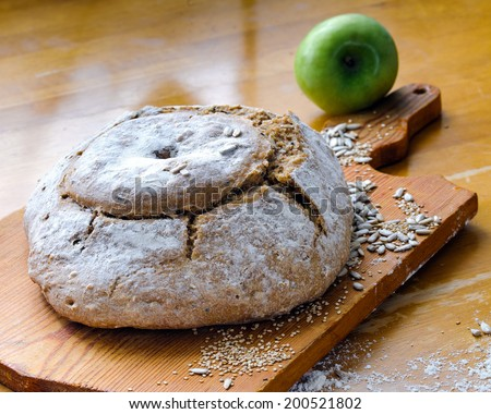 ecological bread - stock photo