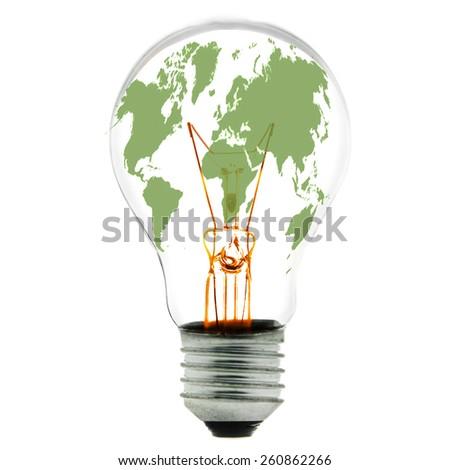 ecological concept, symbolizing renewable energy - stock photo