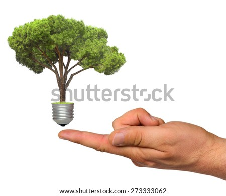 ecological concept, symbolizing renewable energy, bio energy