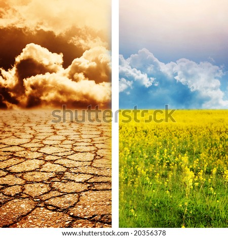 Ecological disaster - stock photo