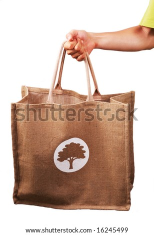 Ecology bag - stock photo