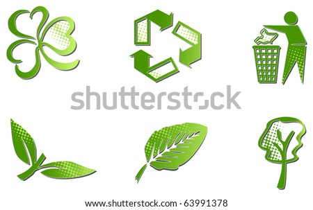 Ecology signs - stock photo