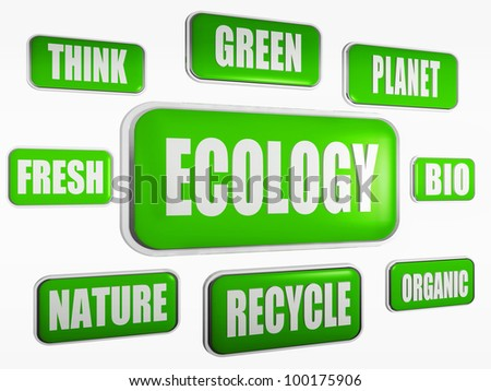 ecology; think; green; planet; bio; organic; recycle; nature; fresh - stock photo