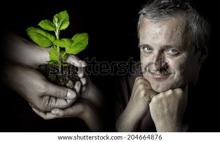 ecology thinking - stock photo