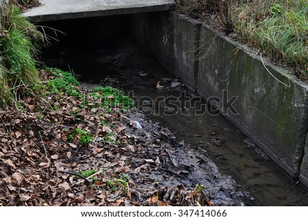 ecology, waste water, nature, water, creek, ditch, waste