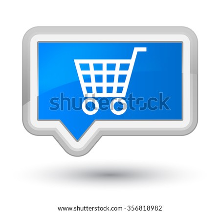 Ecommerce icon cyan blue banner button