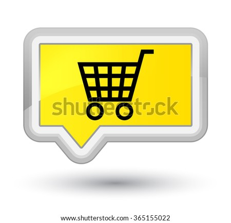 Ecommerce icon yellow banner button