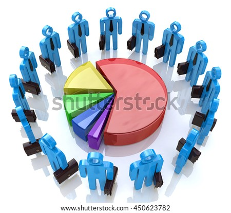 Economic business meeting for the design of information related to business and economy. 3d illustration - stock photo