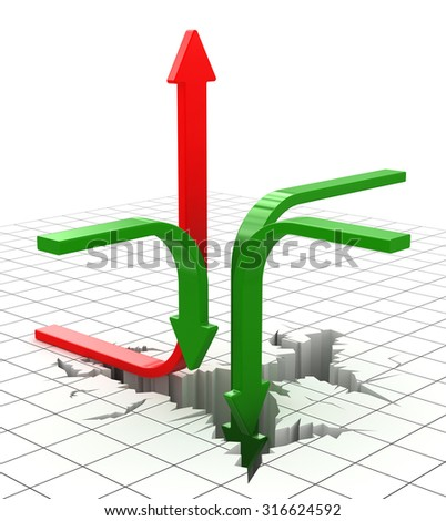 Economic crisis , This is a computer generated and 3d rendered image.