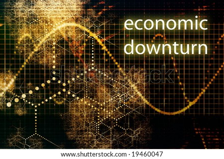 Economic Downturn Business Concept Wallpaper Presentation Background